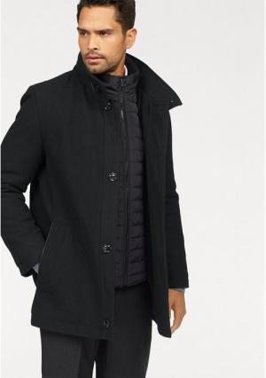 Шерстяное пальто Class International. Цвет: черный