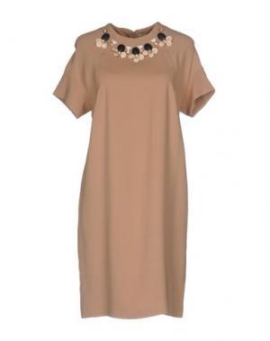 Короткое платье KI6? WHO ARE YOU?. Цвет: телесный