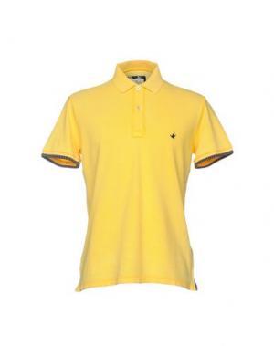 Поло BROOKSFIELD. Цвет: желтый