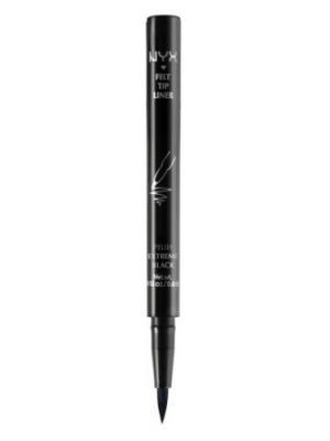 Подводка для контура глаз. FELT TIP LINER. LINER - EXTREME BLACK NYX PROFESSIONAL MAKEUP. Цвет: черный