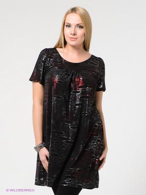 Платье Goddiva plus. Цвет: черный, красный