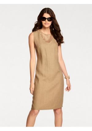 Платье PATRIZIA DINI. Цвет: песочный, синий