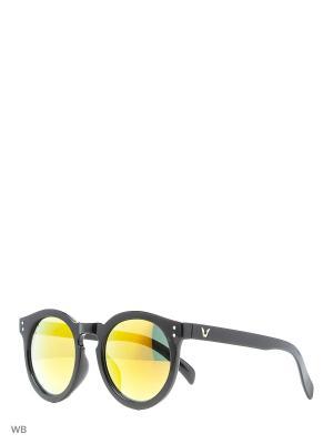 Солнцезащитные очки Vita pelle. Цвет: черный, оранжевый