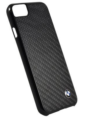 Чехол BMW для iPhone 7 Signature Real carbon Hard Black. Цвет: черный