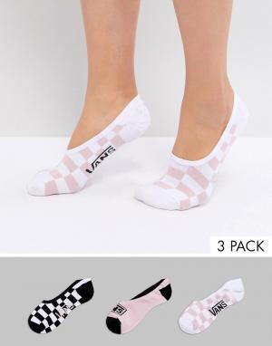 Vans 3 пары низких носков с принтом. Цвет: мульти