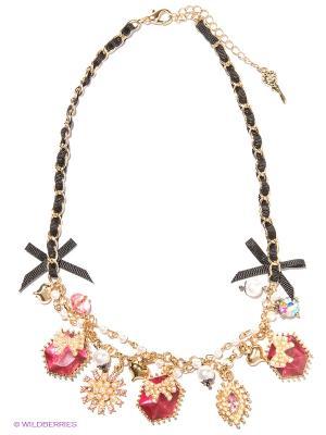 Колье Milana Style. Цвет: розовый, черный