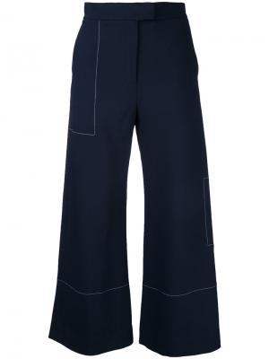 Широкие брюки Studio Nicholson. Цвет: синий