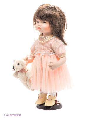 Кукла фарфоровая Лола Lisa Jane. Цвет: бледно-розовый, персиковый