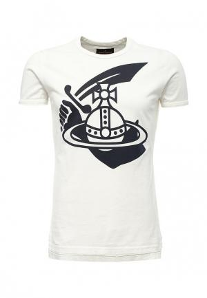 Футболка Vivienne Westwood Anglomania. Цвет: белый