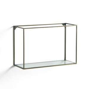 Полка горизонтальная из металла и стекла, Oshota AM.PM.. Цвет: золотистый