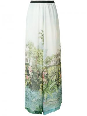 Широкие брюки с принтом Inga Antonio Marras. Цвет: синий