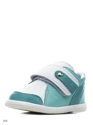 Ботинки ФОМА. Цвет: светло-зеленый, белый