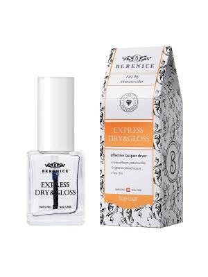 Экспресс-покрытие 2 в 1 Сушка+блеск Express dry&gloss 16 мл. BERENICE. Цвет: прозрачный