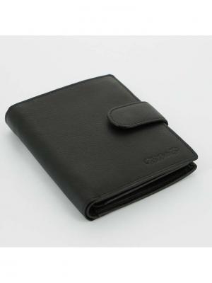 Портмоне  с отделением для паспорта S.QUIRE. Цвет: черный