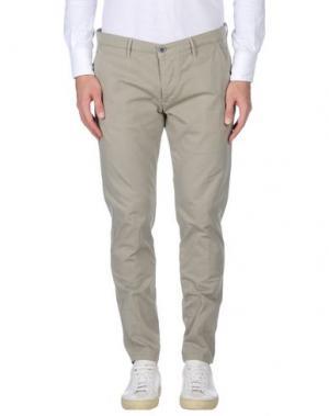 Повседневные брюки 0/ZERO CONSTRUCTION. Цвет: зеленый-милитари