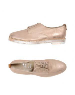 Обувь на шнурках AGL ATTILIO GIUSTI LEOMBRUNI. Цвет: светло-розовый
