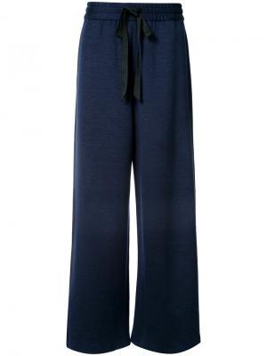 Широкие брюки Adam Lippes. Цвет: синий