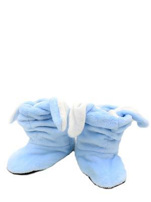 Носки-тапочки HOBBY LINE. Цвет: голубой