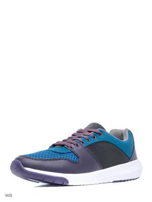 Кроссовки United Colors of Benetton. Цвет: фиолетовый, светло-коричневый