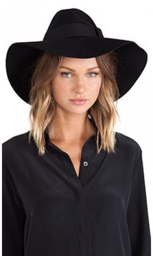 Шляпа с широкими полями piper Brixton. Цвет: черный