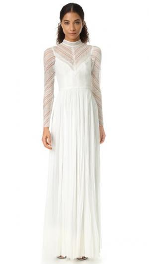 Вечернее платье с высокой горловиной Lily J. Mendel. Цвет: золотой