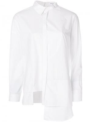 Асимметричная рубашка Enföld. Цвет: белый
