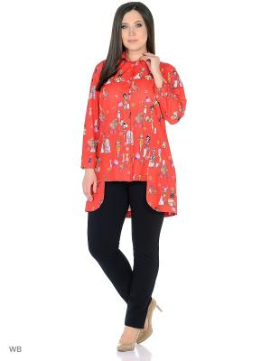 Блуза BERKLINE. Цвет: красный