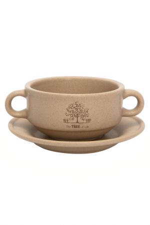 Суповая чашка на блюдце, 0,3 л TERRACOTTA. Цвет: мультиколор