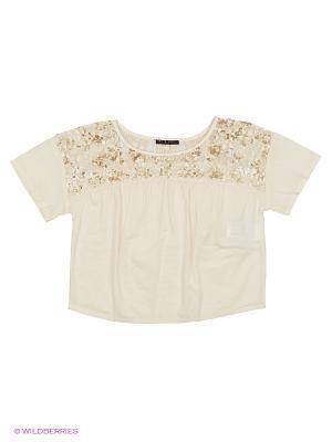 Блузка Sisley Young. Цвет: кремовый