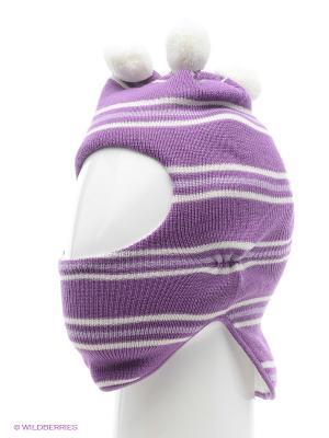 Шапка-шлем Kerry. Цвет: голубой, фиолетовый