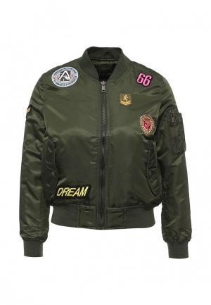 Куртка QED London. Цвет: зеленый