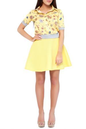 Рубашка Majaly. Цвет: желтый, принт