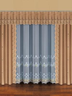 Комплект штор Haft. Цвет: светло-коричневый