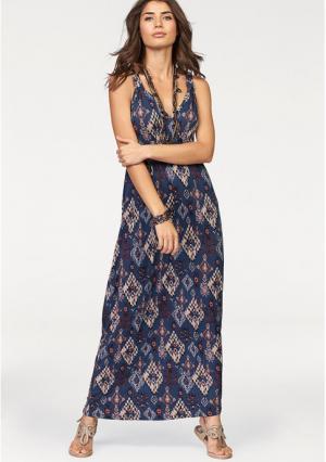 Платье макси BOYSENS BOYSEN'S. Цвет: темно-синий/бордовый
