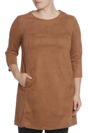 Туника LINA. Цвет: коричневый