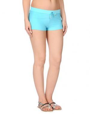 Пляжные брюки и шорты MISS NAORY. Цвет: бирюзовый