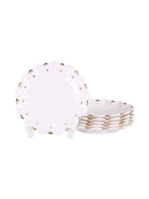 Набор десертных тарелок 6 шт. 19 см PATRICIA. Цвет: белый