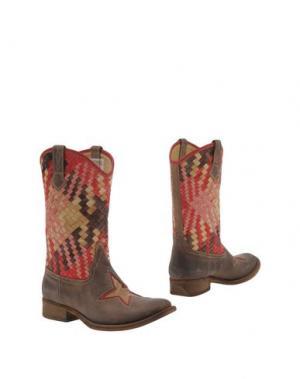 Полусапоги и высокие ботинки ENRICO FANTINI. Цвет: хаки