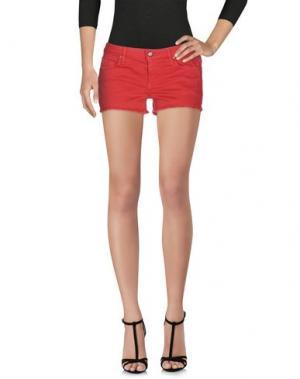 Джинсовые шорты BLAUER. Цвет: кирпично-красный