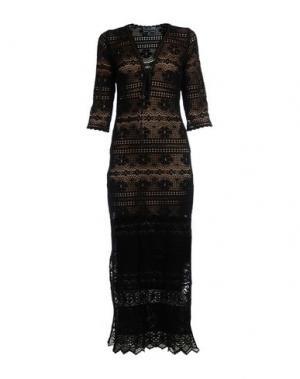 Длинное платье TEMPTATION. Цвет: черный