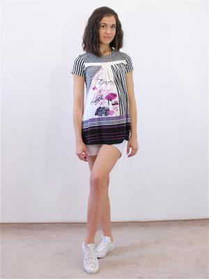 Блузка Адель. Цвет: черный, белый, розовый