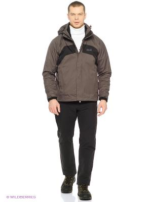 Куртка SERPENTINE JACKET MEN Jack Wolfskin. Цвет: серо-коричневый