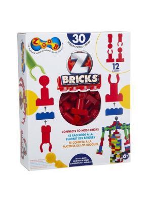 Конструктор-переходник с ZOOB на блочный Z-Bricks 30 эл.. Цвет: красный
