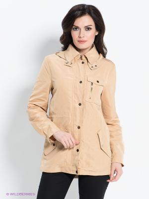 Куртка ZARINA. Цвет: бежевый
