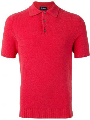 Рубашка-поло Drumohr. Цвет: розовый и фиолетовый