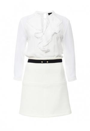 Платье Atos Lombardini. Цвет: белый