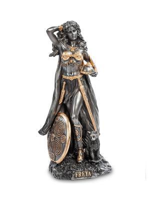 Статуэтка Фрейя - Богиня плодородия, любви и красоты Veronese. Цвет: серебристый, золотистый