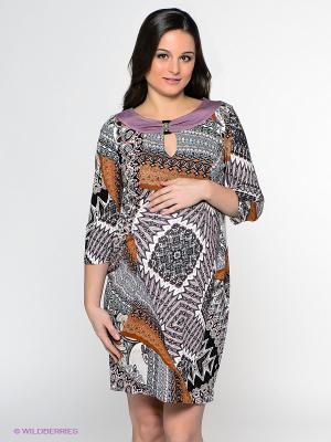 Платье UNIOSTAR. Цвет: черный, серый, лиловый