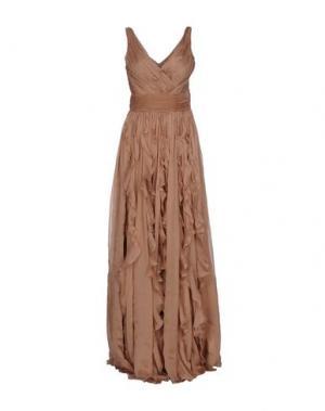 Длинное платье GAI MATTIOLO. Цвет: пастельно-розовый