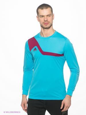 Лонгслив Adidas. Цвет: голубой, сиреневый